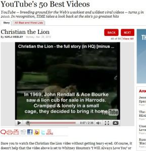 YouTube Top 50 Time Magazine March 2010