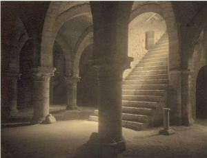 Frederick H Evans - Ancient crypt cellars in Provins, France 1910
