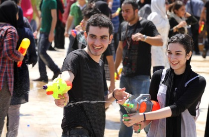 Iranian Youths during water fights at Water and Fire Park northern Tehran, July 2011. AP Photo/Milad Beheshti
