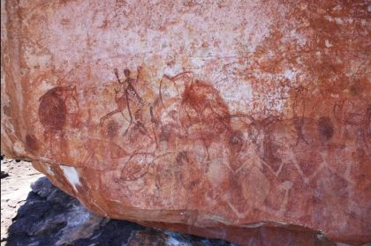 Aboriginal Rock Art. Early X-Ray Figure Panel. -2000 - -1