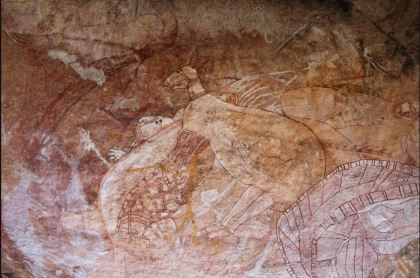 Aboriginal Rock Art. Kangaroos. 1500 - 1910