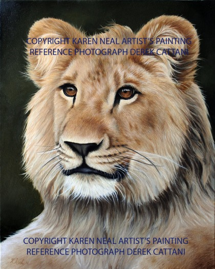 Christian The Lion painting
