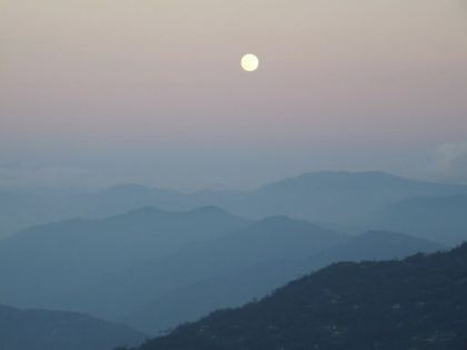 View of Sikkim from the roof of DAS, Darjeeling. Photograph C. Townend