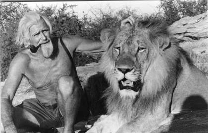 George Adamson and Christian c.1972/3.  Courtesy GAWPT