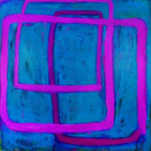 Lot 44 Ildiko Kovacs Travelling Pink Line, 1995