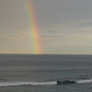 Rainbow south of Bundeena July 2013 by Ace Bourke