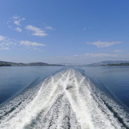 Heading for MONA, Derwent River, Hobart TAS