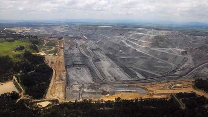 Warkworth mine pit aerial. Source Sydney Morning Herald