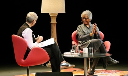 Alice Walker with Caroline Baum at The Sydney Writers' Festival. Image source: The Guardian. Photograph by Prudence Upton