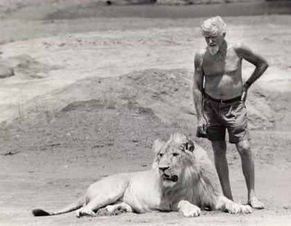George Adamson and Christian at Kora, Kenya