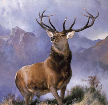 Monarch of the Glen by Edward Landseer. 1851. Courtesy National Museums Scotland.