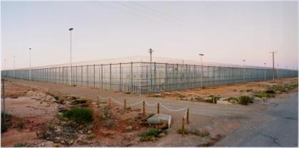 Detention Centre. Photograph by Rosemary Laing. Courtesy Tolarno Galleries.