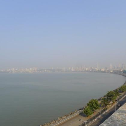 Marine Drive, Mumbai, from my hotel