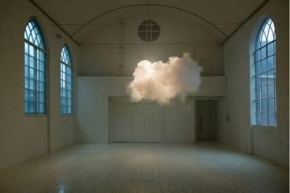 Berndnaut Smilde, Nimbus II, 2012, digital C type print, 75 x 112 cm. Image sourced from Ronchini Gallery, Amsterdam.