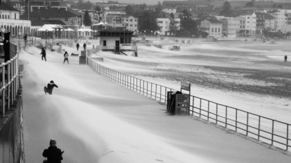 Extreme weather - Angela Miall's Bondi Beach, winner of Clique's May Challenge