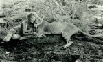 Elsa the lioness with Joy Adamson