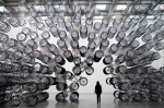 Ai WeiWei at the NGV with bicycles