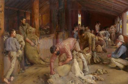 Shearing the rams by Tom Roberts, 1890